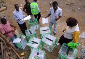 File photo: INEC officials