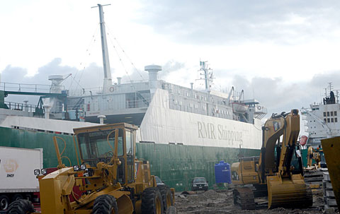 M.V Gumel the ship suspected to be carrying Toxic waste at the Tincan Island Port Lagos. Photo: Nwankpa Chijioke