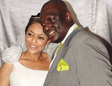 Sammie Okposo and wife