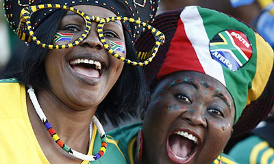 Gorgeous South African fans