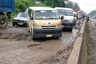 File: Another bad portion on the road