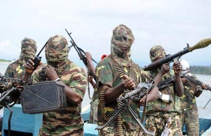File: Militants before the federal govt amnesty programme