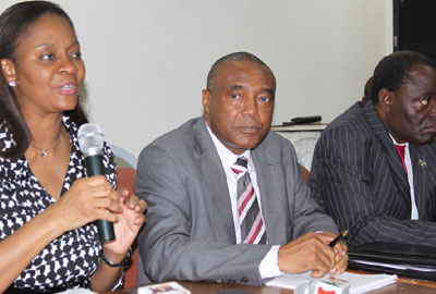 File photo: Arunma Oteh, SEC DG and Emmanuel Ikazoboh, NSE DG
