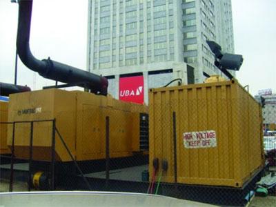 Generator powering establishments...