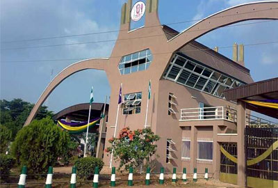File photo: University of Benin gate