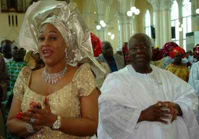Bode George with his wife Roli