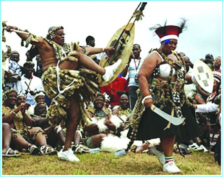 Zulu dancers from South Africa