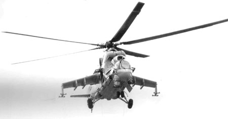 Mi 35 Helicopter Gunship