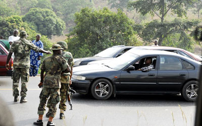 Soldiers in Abuja, Saturday.