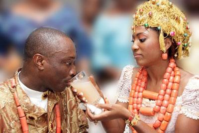 Julius Agwu and wife