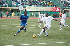 An action at a football league.  Chukwu proffers solution for better management as Okpala blasts NPL for laxity