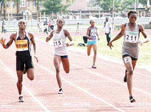 Race to the finish... Nigeria athletes eking out a career at the Golden League.
