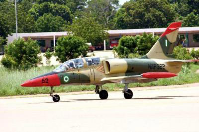 File photo: A Nigeria Airforce plane.