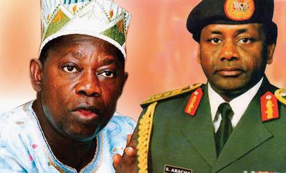 Late MKO Abiola and Late Gen Sani Abacha