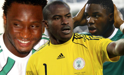 Mikel, Enyeama and Anichebe