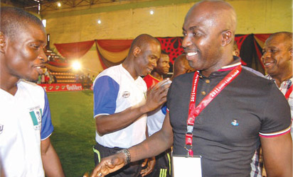 Siasia at the 5-A-side finals in Lagos