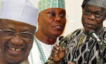 Ibrahim Babangida, Atiku Abubakar and Olusegun Obasanjo