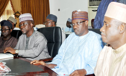 Left: Governors Jonah Jang of Plateau; Umaru Al-makura of Nassarawa; Abdulfatah Ahmed of Kwara; and Aliyu Wamakko of Sokoto, at the Northern Governors' Forum in Abuja