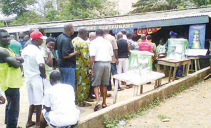 Voters exercising their franchise in Ejigbo area of Lagos