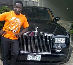 Image result for DUNCAN MIGHTY WITH HIS CUSTOMIZED ROLLS ROYCE