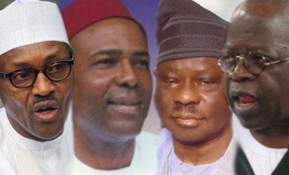 Buhari, Onu, Ali and Tinubu