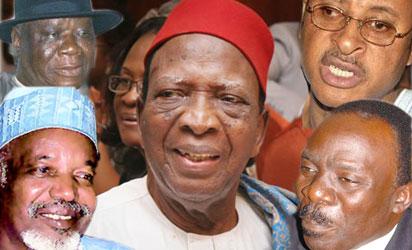*Chief Clark, Alhaji  Musa, Prof. Ben Nwabueze, Femi Falana and Pat Utomi