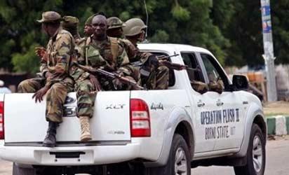 *Soldiers on patrol