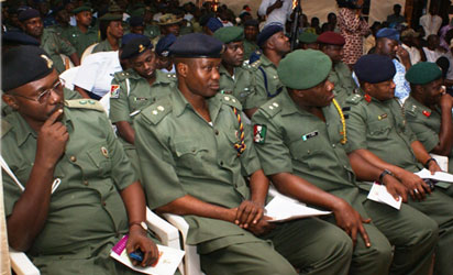 Cross Section of Top Military Officers