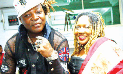 Charly Boy  with Lady Di