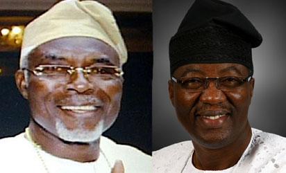 Late Apagun Oluwole Olumide and Otunba Gbenga Daniel