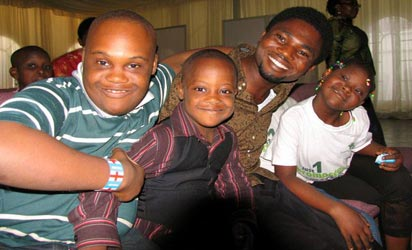 *Children living with Down Syndrome last week during the activies to herald the maiden World Down Syndrome Day in Nigeria.