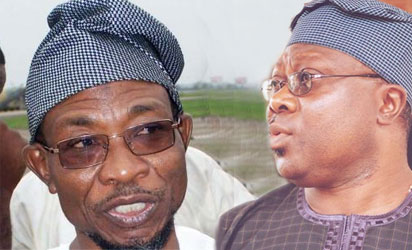 Governor Rauf Aregbesola and Senator Iyiola Omisore