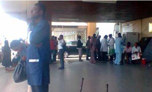 File: ...stranded patients at a hospital