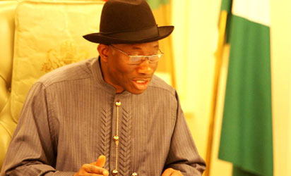File photo: President Goodluck Jonathan addressing the Nation at The State House in Abuja