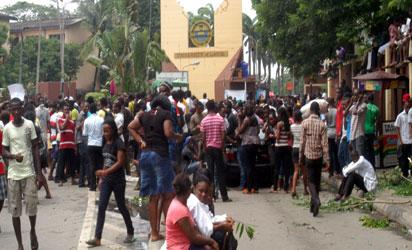 File:  protest in Unilag