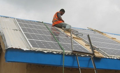 Solar powered community water project at Uturu Abia State