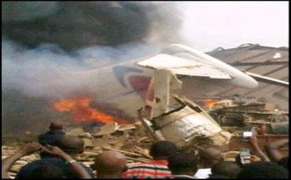File Photo: Dana air crash scene
