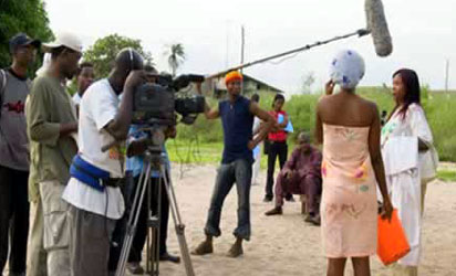 A Nollywood  film shooting location