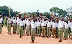 File photo: The NYSC Batch 'B' Corps Members At Their Passing -Out Parade At Murtala Muhammed Square, Kaduna on Thursday. Photo by Olu Ajayi