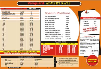 New advert rate