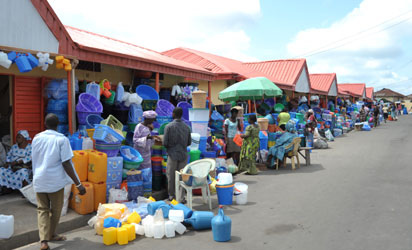 The Caring Heart Market initiated as part of Mimiko's community development programme