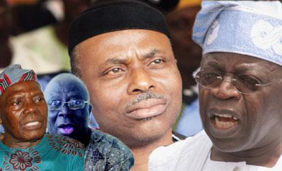 Akande, ACN national chairman; Adebanjo: Staunch Awoist;  Gov Mimiko, and Tinubu, ACN national leader