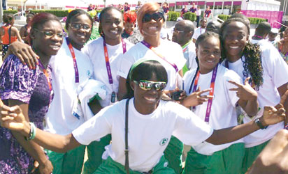 Nigerian athletes at the Olympic