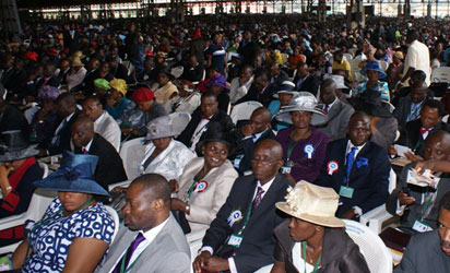 Cross section of newly ordained Assistant Pastors at the 60th Annual Convention of Redeemed Christian Church of God at Redemption Camp, Lagos-Ibadan Expressway. Photos: Lamidi Bamidele