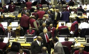 File photo: The  floor of Stock exchange