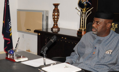 Senator Liyel Imoke of Cross River State at Government House.