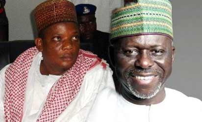 Sacked speaker, Bello (r) ponders his future as Wada smiles