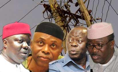 Emmanuel Uduaghan, Olusegun Mimiko, Adams Oshiomhole and Kayode Fayemi