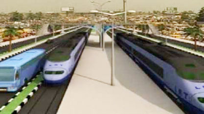 A prototype light rail  ... proposed for Lagos
