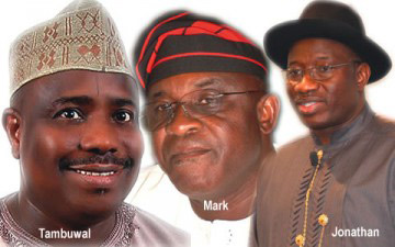 File Photo: Tambuwal, Mark, Jonathan